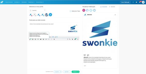 Redes Sociais com Swonkie