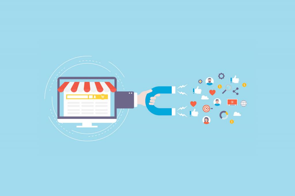 Oferecer conteúdo para atrair os clientes.