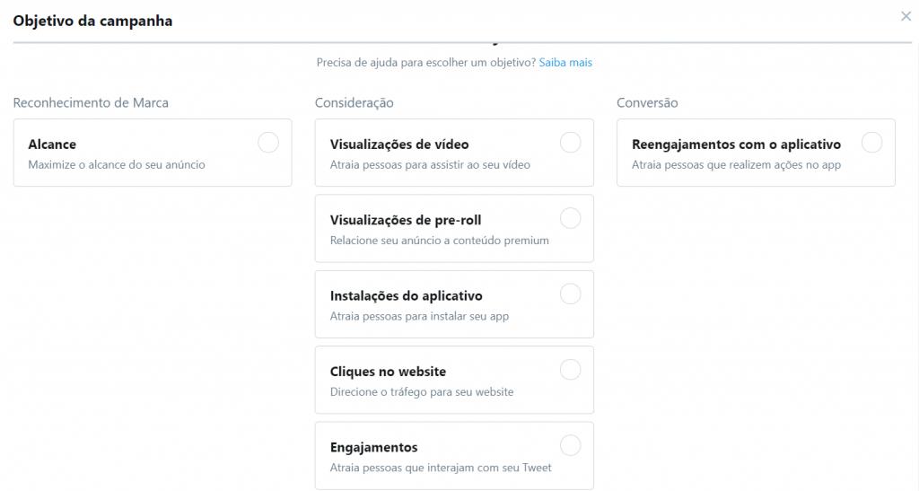 Objetivos Twitter