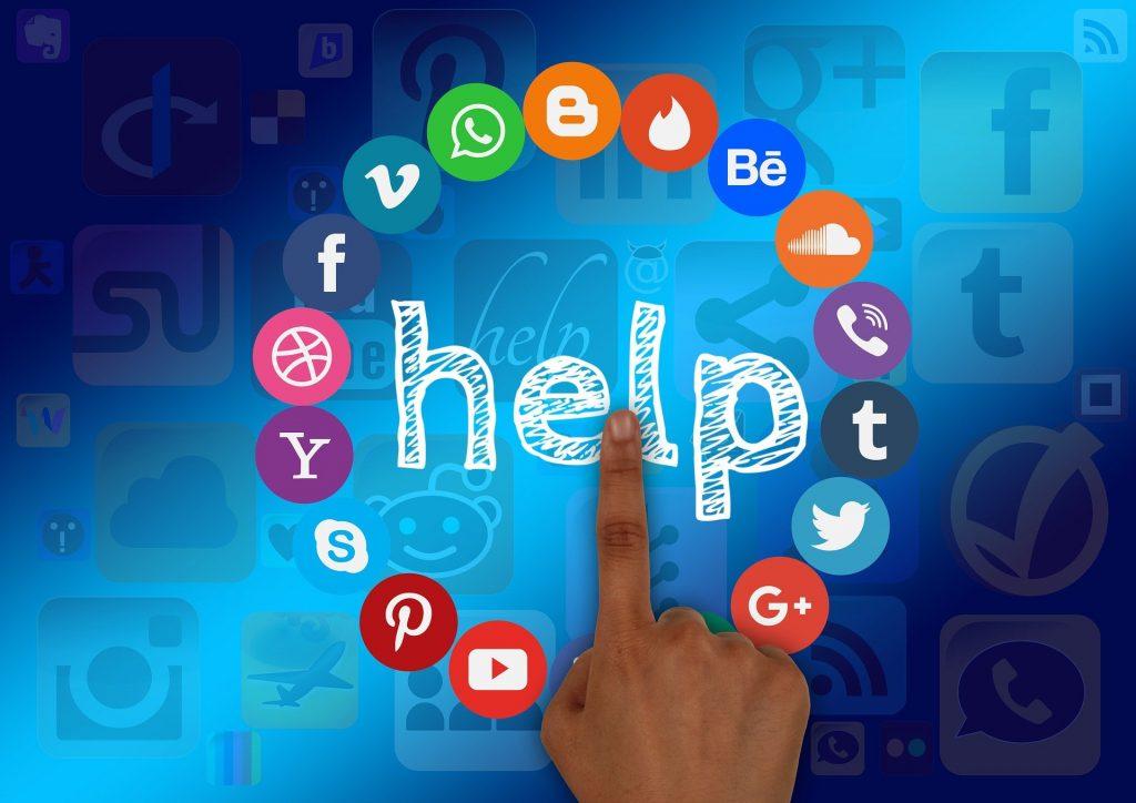 Ajuda das redes sociais